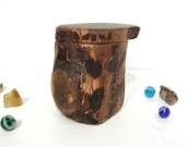 Black Walnut Tree Branch Box, small pet urn, cremation urn, wood art, 5th anniversary, retirement, wood jewelry box, office desk organizer