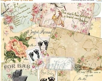 SALE DARLING BABY collage Digital Images -printable download file-