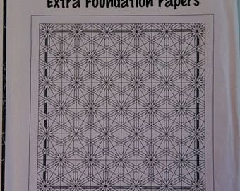 Star Burst, Extra Foundation Papers, Judy Niemeyer Quilting