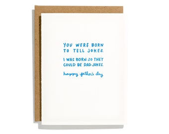 Dad Jokes - Letterpress Holiday Card - CH200
