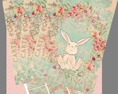 Easter-Spring Bunny Printable Hang Tags-Flat Note Cards