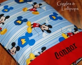 Disney Mickey Mouse personalized travel throw pillow pillowcase daycare pillow