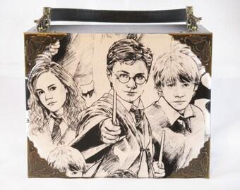 Harry Potter, Hermione Granger, Ron Wesley, Cigar Box Purse, Box Purse, Handbag, Jaxx Old School by La Sirena Cigars Item # 627