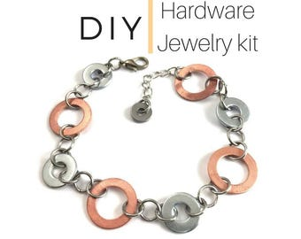 Bracelet Jewelry Kit Mixed Metal Hardware Jewelry