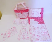Bitty Baby Basics in Princess Silhouette - Diaper Bag and Diapers with Blanket and Pillow for doll