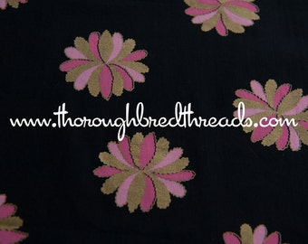 """Gold and Pink Geometric  - Vintage Fabric 50s 60s  New Old Stock Mid Century Stylized 35"""" wide"""