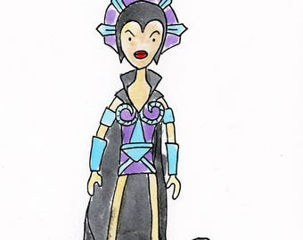 Evil-Lyn illustration inspired by Masters of the Universe