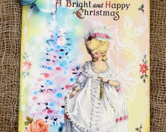 Marie Antoinette Christmas Gift or Scrapbook Tags or Magnet #148