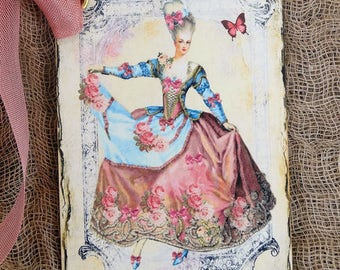 French Marie Antoinette Gift or Scrapbook Tags or Magnet #392