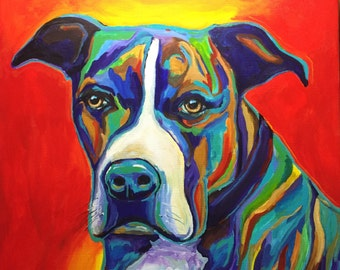 Dog Portrait  order your own custom dog portrait 10x10 inches