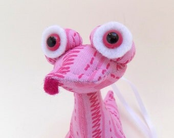 Cute Ornament, Christmas Ornament, Toy Ornament, Pink Ornament, Cloth Ornament, Stocking Stuffer by Adopt an Alien named Veronica