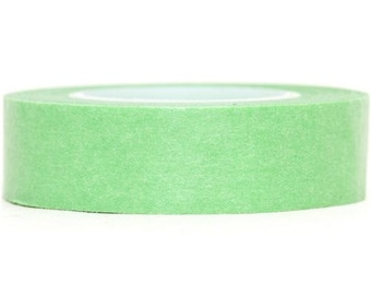 168648 green Washi Masking Tape deco tape solid
