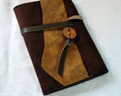 2017 Moonlit Leather Planner with Leather Tie- Refillable