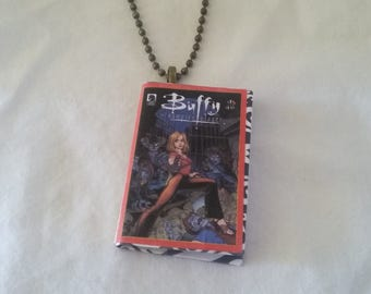 Mini Buffy Comic Book Pendant