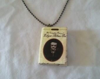 Edgar Allan Poe Jewelry - Mini-Book Pendant - The Complete Poetry of Edgar Allan Poe  - Poetry - Gothic Necklace - Edgar Allan Poe Necklace