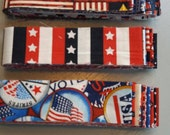 Fabric, Fat Quarters, Fabric Fat Quarters, Fat Quarter, Red White Blue Fabric, Flag Fabric, Fabric Bundle