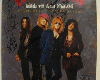 Vintage Enuff Znuff Signed by All 4 to Cameron Crow Promo Poster Debut Animas with Human Intelligence Album Jerry Maguire Eniff Z'nuff
