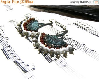 On Sale Bohemian Fan Chandelier Earrings Bohemian Jewelry for Women Boho Gifts