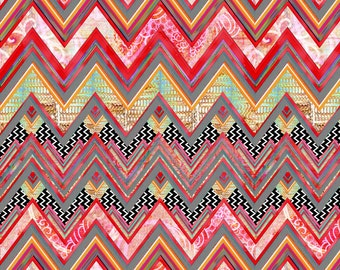 Modern Chevron Fabric - Distant Beat By Joanmclemore - Modern Chevron Home Decor Cotton Fabric By The Yard With Spoonflower