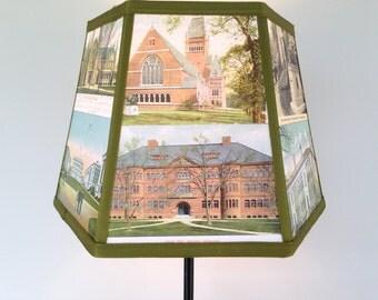 Harvard University Lamp Shade Lampshade Vintage Postcards, 7x10x7 Clip Desk Shade, Graduation Gift, Cambridge MA - Alumni Desk Shade