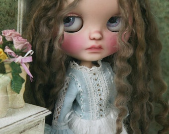 Jiajia Doll limited - squirrel set - 2 pieces blue and white lace dress and cream skirt for Blythe or Jerryberry Azone Pullip YOSD imda Jerr