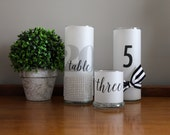 Table Number Candle Luminaries - Set of 10 - Add Candlelight to your Tablescape!