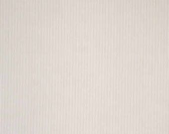 Beige Stripe Fabric, Beige and White Narrow Striped Cotton Fabric, Fine Striped  Cotton Fabric