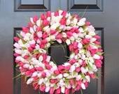 SPRING WREATH SALE Tulips Spring Wreath- Spring Decor-Spring Tulips Wreath, Custom Colors and Sizes- Summer Wreath- The Original Tulip Wreat