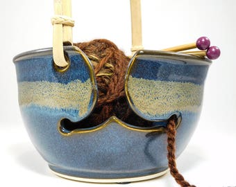 Knitting Bowl Large - Yarn Bowl Large - Large Knitting Bowl - Large Yarn Bowl - Bowl For Yarn - Yarn Bowl Ceramic - Clay Yarn Bowl - InStock