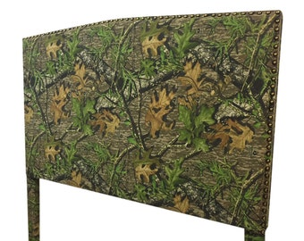 Camouflage Fabric Queen Size Upholstered Headboard Queen Headboard