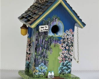 Mom's Birdhouse , Navy Blue , Leaning Forward , Lots of Flowers , Acorn in the Eaves and Lots of Extras