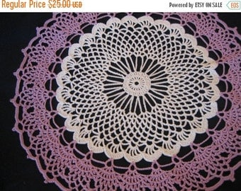 holiday sale Crochet, white, wood violet  doily, new, ready to mail
