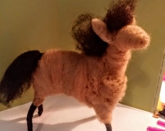 Horse Felted Wool Ornament - NEW for 2017