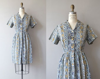 Ternes Road dress | vintage 1960s cotton dress | 60s shirtwaist dress