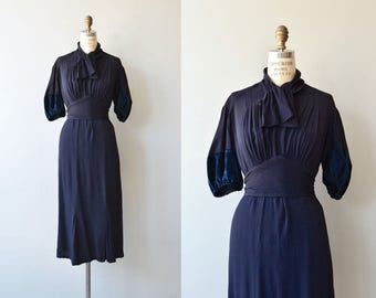 Finishing School dress | vintage 1930s dress | 30s rayon dress