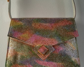 Sondra Roberts Rainbow Metallic Purse