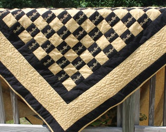 Crown Royal Quilt black and gold