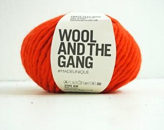 100% Peruvian wool yarn ORANGE