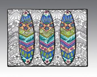"3 Surf Boards 18"" x 24"" Door Mat, Floor Mat, Home Decor, surf art"