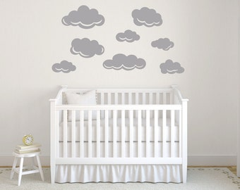 Set of 8 fluffy clouds in various sizes DB408