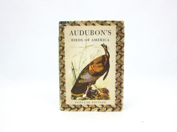 Audubon's Birds of America Book 1950 Hardcover book Bird Illustrations Prints Home Decor Popular Edition