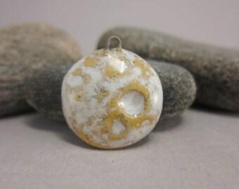 Textured Full Moon.....Stoneware Pendant from elukka...Milk & Honey