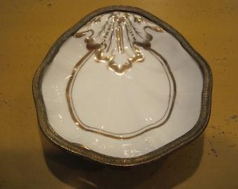 Vintage porcelain Shell Dish