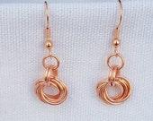 Copper Mobius Flower Earr...