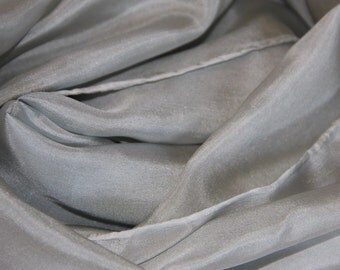 "Gray Silk Scarf - ""San Francisco Fog"" Habotai Silk Scarf - Unique Gift - Various Sizes Available"
