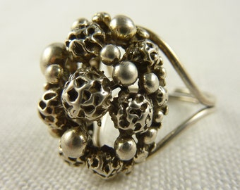 Vintage Beau Sterling Adjustable Ring