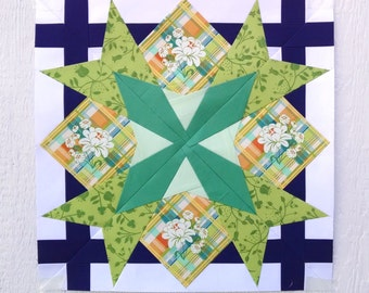 Paper Piecing - Virgo #244 - Zodiac Block of the Month - 3 sizes