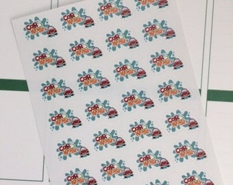 28 Car Wash Planner Stickers