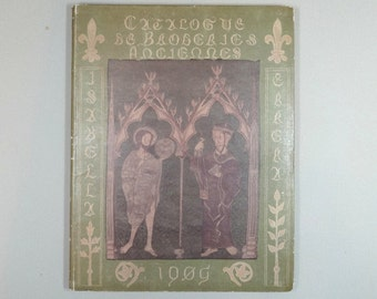 Very rare book CATALOGUE des BRODERIES ANCIENNES by Isabelle Errera Brussels, 1905 First Edition 104 photogravures