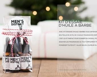 Beard oil trial kit // One vegan beard oil of each fragrance // Kit d'essaie d'huile à barbe // Une de chacune des quatre fragrances